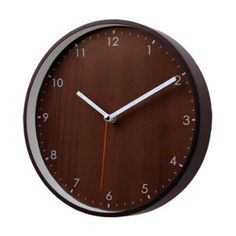 Traditional Wooden Non-Ticking Silent Wall Clock (Brown)
