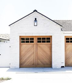 •Parking is a pleasant pastime with the view of this A-patterned garage door!• #brandonarchitects