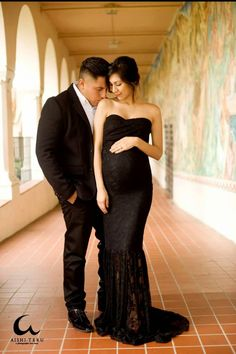 Marilyn Gown • Hand Made Maternity Gown • Lace Mermaid Style Sweetheart Maternity Gown • by Sew Trendy