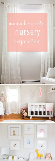 This gorgeous monochromatic nursery by @alexcalame is anything but boring. Click for the inspiration, for your kids decor.