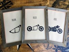 "The ""Dream, Build, Ride"" Series by Inked Iron"