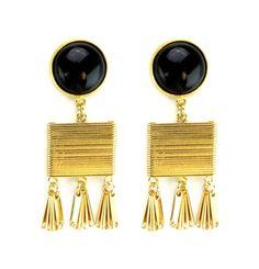 Sylvia Benson Earring in Black Available at Splurge.  704.370.0082