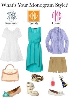 monogram styles: love all of these outfits! What's Your Style, Style Me, Cool Style, Classic Style, Southern Girls, Southern Charm, Southern Belle, Simply Southern, Chic Over 50