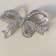 Bow Brooch Rhinestone Bow Brooch Jewelry Brooches