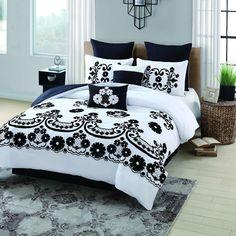 Sierra 8 Piece Flocked Comforter Set
