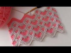 Crochet Cushions, Crochet Afghans, Baby Blanket Crochet, Knit Crochet, Crochet Stitches Patterns, Baby Knitting Patterns, Crochet Designs, Crochet World, Crochet Videos