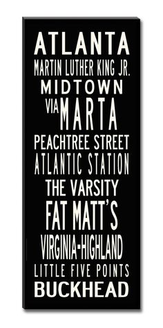 Really want one of these. May try and make one. SALE PRICEATLANTA Large 24x60 GalleryWrapped by WestEggStudio, $329.00