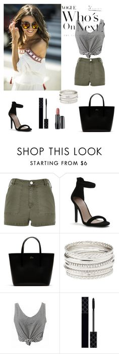 """""""Andrea"""" by andreiah ❤ liked on Polyvore featuring River Island, Lacoste, Charlotte Russe, Gucci and Lancôme"""
