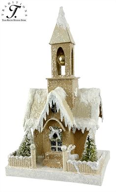 Traditional Red Christmas Decorations and Ornaments at Traditions Year-Round Holiday Store. Christmas Village Houses, Christmas Town, Putz Houses, Christmas Villages, Christmas Makes, Christmas Crafts, Christmas Decorations, Christmas Things, Victorian Christmas