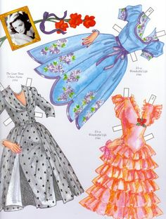 Donna Reed Paper Dolls | David Wolfe's lovely Donna Reed paper doll can be purchased at the ...