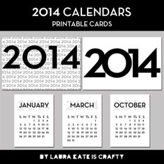 2014 Printable Calendar and Cards for Project Life