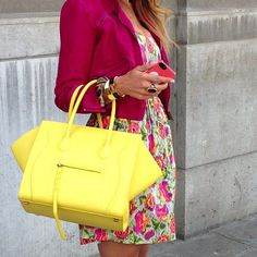 Nice colored outfit Celine bag