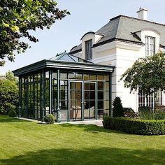 If you are who want to add a conservatory green-house to all of your residence, this informative article supplies you with plenty of inspirational ideas on how to get you mother nature. Garden Room Extensions, House Extensions, Orangerie Extension, Architecture Renovation, House Architecture, Gazebos, Glass Room, Glass House, Outdoor Rooms