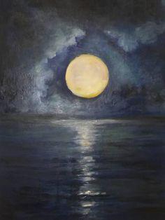 Oil On Canvas, Original Artwork, Facebook, Gallery, Artist, Painting, La Luna, Painted Canvas, Painting Art