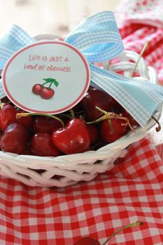 Bowl of Cherries Free Printable, hostess gift, housewarming gift, #MemorialDay, #4thofJuly, #patriotic