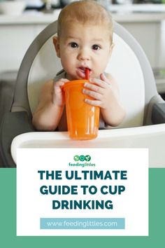 Did you know that a baby starting solids at 6+ months can start using an open cup? Check out our ultimate guide on cup drinking to help teach your baby to use an open cup and a straw cup. The ultimate guide to cup drinking by our feeding therapist also includes our favorite cups for babies, toddlers, and young kids. #feedinglittles #baby #cup #firstfoods #startingsolids Starting Solids Baby, Healthy Baby Food, Introducing Solids, Quotes About Motherhood, Baby Learning, Parent Resources, Baby Led Weaning, Help Teaching, Kids Nutrition