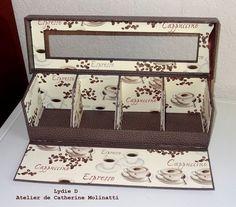 L'atelier cartonne ...suite ... Papel Scrapbook, Tea Box, Carton Box, Cardboard Crafts, 3d Projects, Organizing Your Home, Tissue Boxes, Plastic Canvas, Decoupage