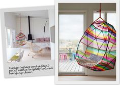 multi colour hanging chair
