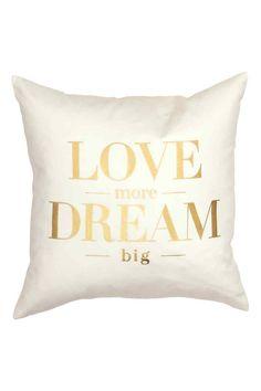 Text print cushion cover