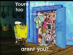 Justin Bieber funny Spongebob(: