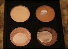 Everyday Essentials: Eyes - The Other End of the Brush.  MAC Eye Shadows in Brule, Soft Brown, Naked Lunch, Satin Taupe