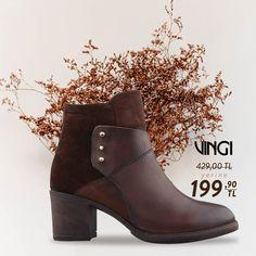 VINGI Hakiki deri kısa topuklu bot sezon fırsatı ile şimdi 199,90 TL. Hemen almak için web sitemizi ziyaret edin. Ücretsiz kargo. Kapıda ödeme imkanı. Tabata, Booty, Ankle, Shoes, Fashion, Moda, Swag, Zapatos, Wall Plug