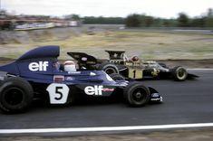 Jackie Stewart met la pression du Emerson Fittipaldi Belgique 1973