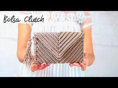 Crochet Clutch Pattern, Crochet Clutch Bags, Crochet Handbags, Crochet Purses, Crochet Patterns, Crochet Designs, Crochet Video, Crochet Diy, Filet Crochet