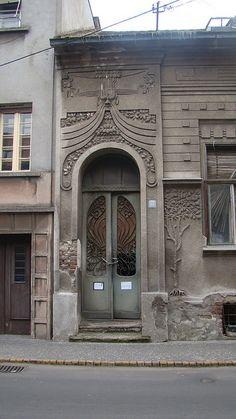 Belgrade, Zemun District - Serbia by Vasenka Grand Entrance, Entrance Doors, Doorway, Cool Doors, Unique Doors, Bosnia Y Herzegovina, Art Nouveau Architecture, Door Knockers, Architectural Elements