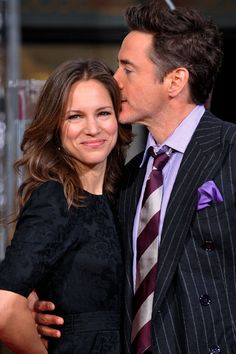 """""""In my darkest hours she believed in me, she saved my life. I explicitly want to caution about taking me as role model because of my past but my personal version of heaven is drawn by having found the right woman on my side."""" - Robert Downey Jr. on his wife, Susan Downey."""