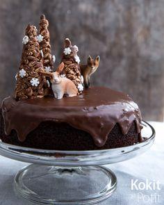 Gluteeniton mokkapalakakku Sin Gluten, Gluten Free, Dessert Recipes, Desserts, Cake Decorating, Decorating Ideas, Food And Drink, Pudding, Candy