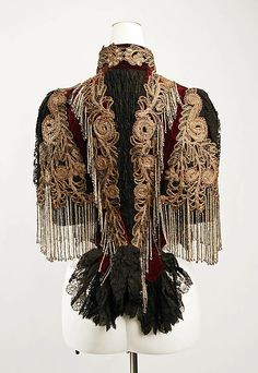 Lord & Taylor (American, founded 1826). Jacket, ca. 1883. The Metropolitan Museum of Art, New York. Gift of Patricia D. Silver, 1988 (1988.77) #halloween #costume
