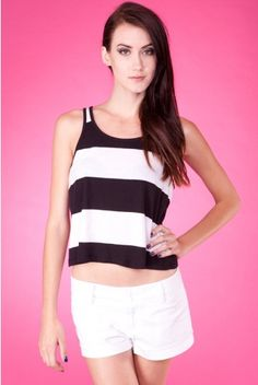 Black Striped Tank Top, well here's one of my weakness, striped clothes.