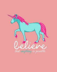 FREE Unicorn Printable...Believe that anything is possible!
