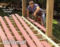 Build a No-Rot, No-Maintenance Deck – Home Maintenance Deck Building Plans, Deck Plans, Deck Framing, Concrete Footings, Laying Decking, Deck Construction, Diy Deck, Decks And Porches, Deck Design