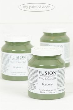 Bayberry ▪A deep muted olive green, vintage in nature. Stunning on its own or accompanied. Fusion Mineral Paint available at My Painted Door (.com)