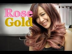 Michelle Phan Blush Rose Pink Ombre Hair Color by Guy Tang Gold Hair Colors, Hair Color Dark, Dark Hair, Blush Rose, Rose Gold Hair, Michelle Phan, Loreal Hair Color Chart, Long Hair Highlights, Pink Ombre Hair