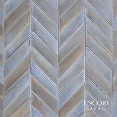 Encore Ceramics | Chevron - Large Staggered mosaic hand-glazed in Heron matte | Sustainably made in Oregon Sustainable Companies, Chef Kitchen, 3d Pattern, House Renovations, Mosaic Patterns, Heron, Textures Patterns, Backsplash, Master Bath