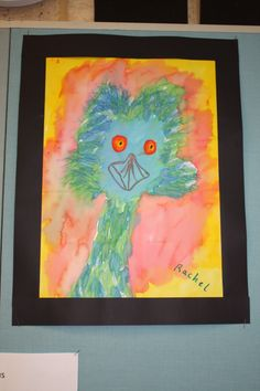 Emu Created After Studies of Wendy Binks Artwork Wax Crayon And Dye Year 2