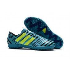 Discount Adidas Messi Nemeziz TF Football Boots Soccer Boots Blue Green Black For Sale Adidas Messi, Adidas Nemeziz, Adidas Boots, Adidas Sneakers, Adidas Football, Football Shoes, Soccer Boots, Soccer Cleats, Adidas Samba