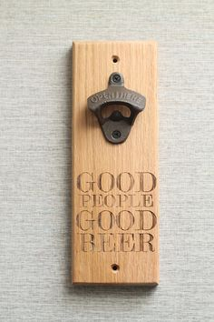 Gifts for groomsmen! Personalized wall mounted bottle openers!