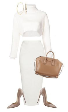 """Simple"" by mullaqueen on Polyvore featuring Alexandre Vauthier, Rick Owens, Christian Louboutin, Givenchy and Nadri #givenchyshoeshighheels"