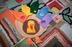 Pink and Green Mama: Preschool At Home: Button Turkey