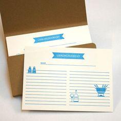 Recipe Cards...