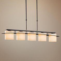 Hubbardton Forge Arc Ellipse 5-Light Wrought Iron Chandelier - #K0301 | LampsPlus.com