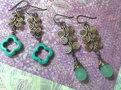 DIY Swirl Wire  Earrings    http://www.rings-things.com/blog/tag/diy-wire-jewelry/#.T5CohbP2ZYV
