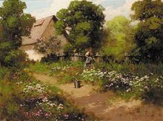 Watering the garden By Laszlo Neogrady