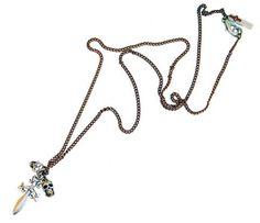 Mens sword and skulls necklace - Maiden-Art  - 1