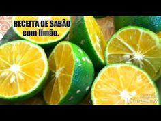 Receita de sabão com limão - YouTube Youtube, Lemon Soap, How To Clean Aluminum, Soaps, Diet, Bedspreads, Places, Youtubers