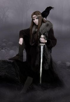 Celtic Goddess, Celtic Mythology, Viking Warrior, Warrior Women, Viking Woman, My Fantasy World, Fantasy Art, Vikings, Traditional Witchcraft